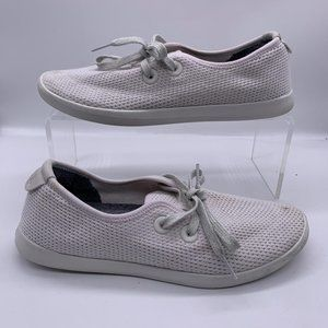 AllBirds Tree Skippers Flat Shoes 9 Lace Up Chalk